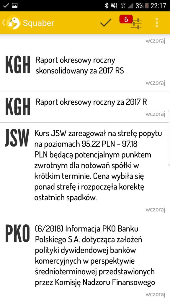 Sygnał na JSW (aplikacja mobilna)