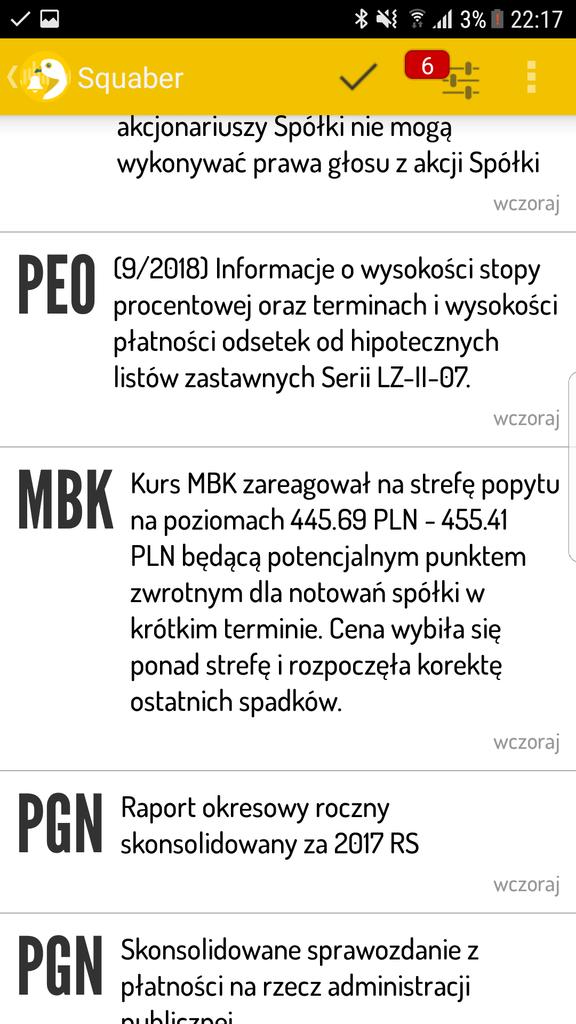 Sygnał na mBanku (aplikacja mobilna)