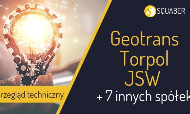Geotrans, Torpol, JSW + 7 innych ciekawych spółek