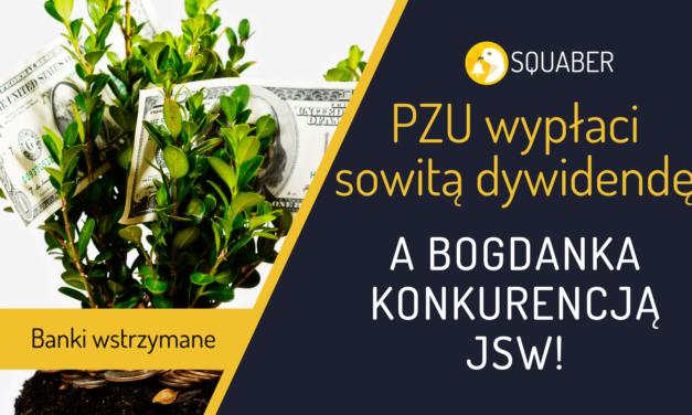 Dywidenda PZU, brak jej z banków + koks będzie z Bogdanki